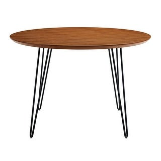 """Offex 46"""" Round Hairpin Leg Kitchen Dining Table - Walnut - Brown - N/A"""