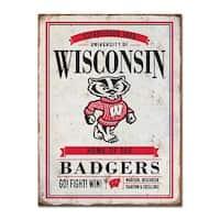 University of Wisconsin Vintage Tin Sign