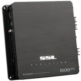 SSL EV1500M SSL EV1500M EVOLUTION 1500-Watt Monoblock, Class A/B 2 to 8 Ohm Stable Monoblock Amplifier with Remote Subwoofer