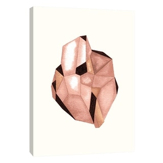 """PTM Images 9-105711  PTM Canvas Collection 10"""" x 8"""" - """"Faceted Gem Rose"""" Giclee Abstract Art Print on Canvas"""