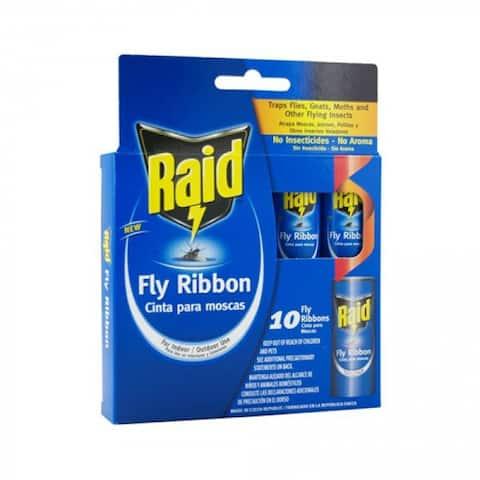 Raid FR10B-RAID Fly Ribbon, 10-Count