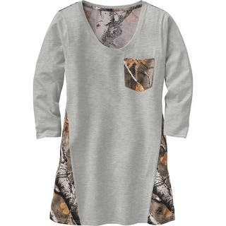 Legendary Whitetails Ladies Escape The Day Big Game Camo Tunic - Heather Grey|https://ak1.ostkcdn.com/images/products/is/images/direct/58b8302833fd6e3e1206e1657d327921eb0d60b8/Legendary-Whitetails-Ladies-Escape-The-Day-Big-Game-Camo-Tunic.jpg?impolicy=medium