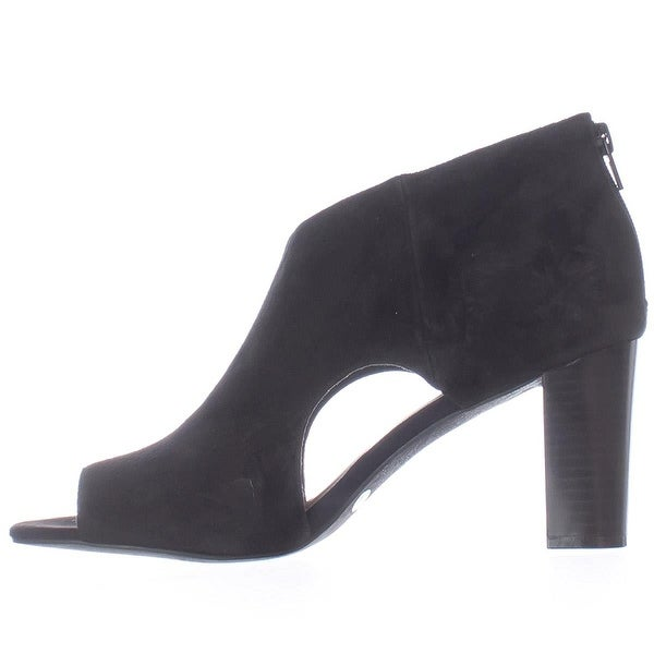 Alfani Womens MYELLES Peep Toe Classic Pumps, Black, Size 6.5