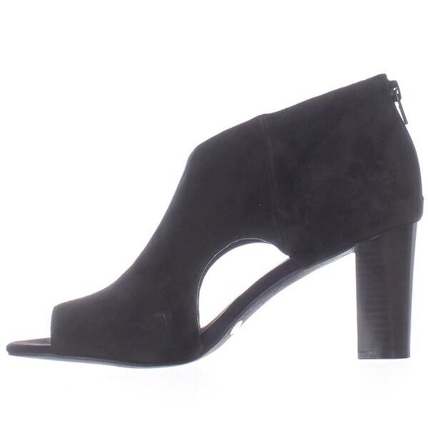Alfani Womens MYELLES Peep Toe Classic Pumps, Black, Size 7.0