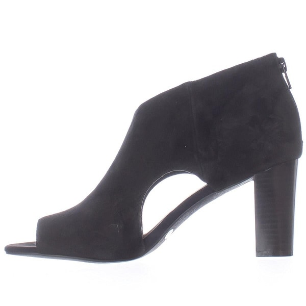 Alfani Womens MYELLES Peep Toe Classic Pumps, Black, Size 9.5