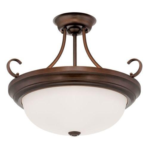 Millennium Lighting 5215 3 Light Semi-Flush Ceiling Fixture
