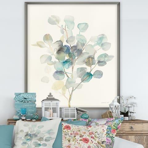 Designart 'Eucalyptus leaves I' Farmhouse Premium Framed Art Print