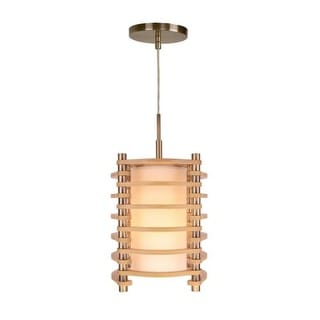 Woodbridge Lighting 16023-WSA1AS 1 Light Single Mini Pendant from the Steps Collection
