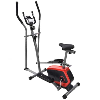 Elliptical Exercise Machine with Digital Large LCD Display - 34.5''L*19''W*58.5''H
