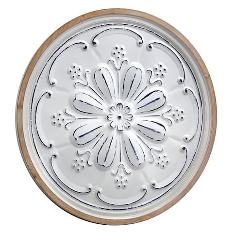 "Framed Floral Medallion Wall Decor (33"")"
