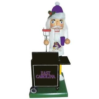"12"" NCAA East Carolina Pirates Tailgating Nutcracker Decorative Christmas Figure"