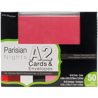Core'dinations Smooth A2 Cards W/White Envelopes 50/Box-Parisian Nights