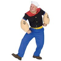 Fun World Popeye Adult Costume - Blue - One size