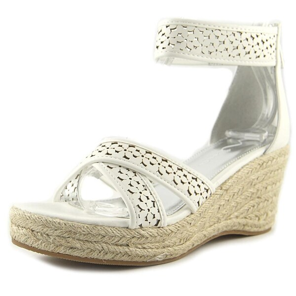 Shop Nina Kids Chicory Youth Open Toe Synthetic White Wedge Sandal ... 54a3388535d8