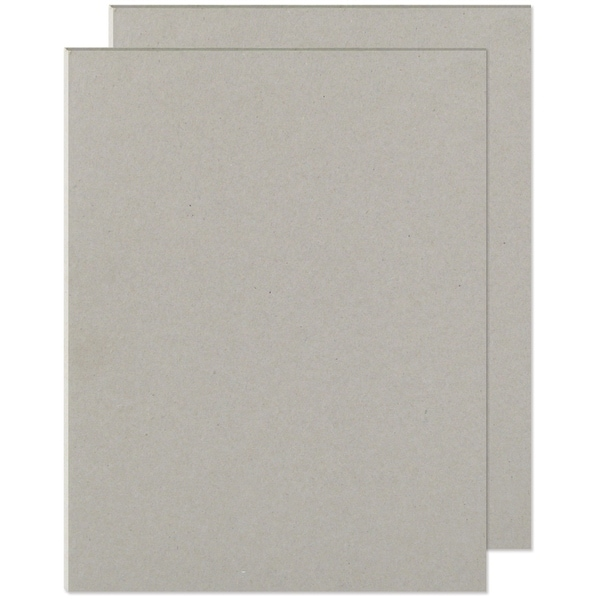 "Cinch Book Board 8.5""X11"" 2/Pkg-Gray Chipboard - gray"