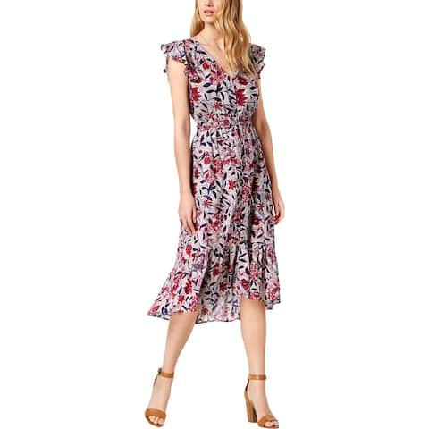Lucky Brand Womens Casual Dress Floral Fit & Flare