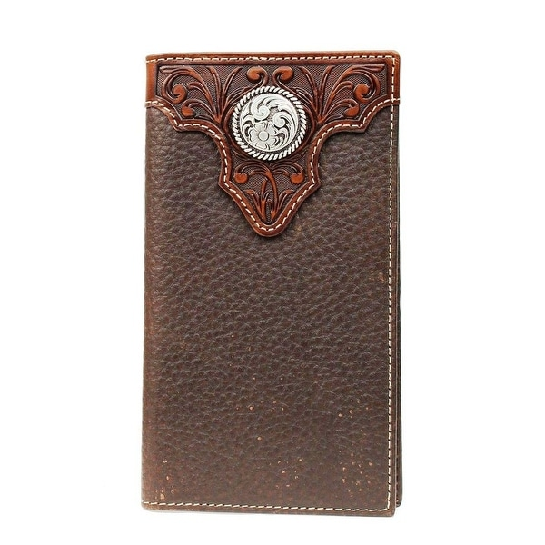 Ariat Western Wallet Mens Premium Rodeo Checkbook Conchos - One size