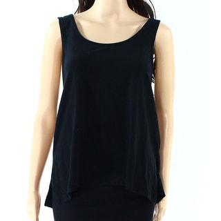 TopShop NEW Black Women's Size 6 Scoop-Neck Back-Tie Stretch Tank Top 399