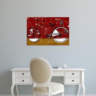 Easy Art Prints Daryl Thetford's 'Red Bicycle' Premium Canvas Art