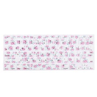 Unique Bargains Soft Silicone Flower Print Protective Keyboard Skin Cover for 13 Inch Laptop