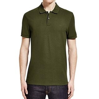 Michael Kors NEW Green Mens Size Small S Short Sleeve Polo Rugby Shirt