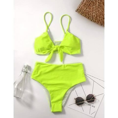 XUNYU High Waisted Bikini Set for Women Swimsuits Push Up Tie Knot Swimwear T...