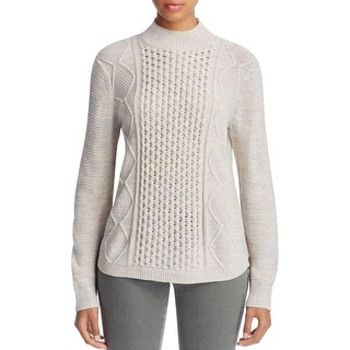 Love Scarlett Womens Mock Turtleneck Sweater Cable Knit Long Sleeves