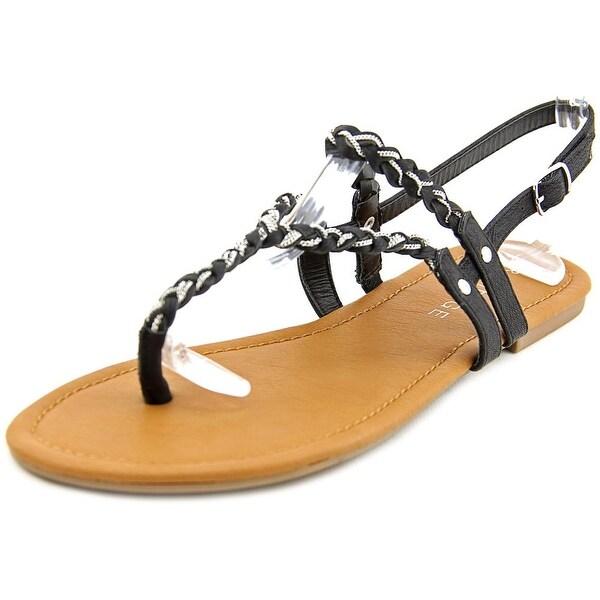 Rampage Jellie Women Open-Toe Synthetic Black Slingback Sandal