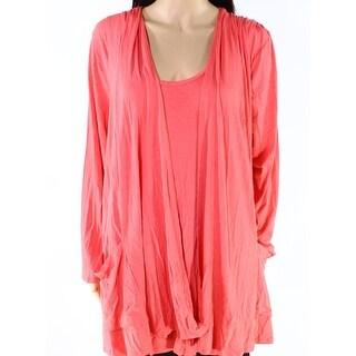 Anthony Originals NEW Orange Womens Size 2X Plus Vest Twinset Sweater