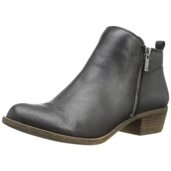 f05200406 Shop Lucky Brand Womens Basel Leather Almond Toe Ankle Cowboy Boots ...