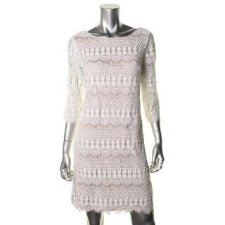 Jessica Howard Womens Lace Knee-Length Cocktail Dress