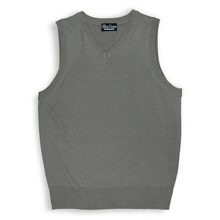 Boys Solid Color Sweater Vest
