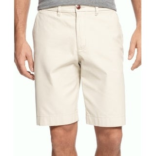 Tommy Hilfiger NEW Beige Mens Size 38 Solid Classic Fit Chino Shorts
