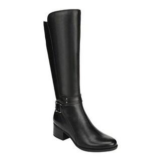 Naturalizer Women's Dane Knee High Boot Black Leather