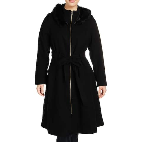 City Chic Womens Plus Trench Coat Winter Long