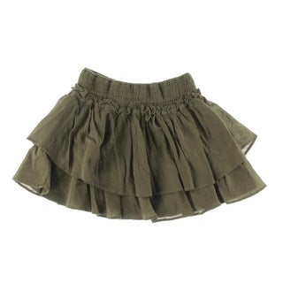 Zara Kids Girls Smocked Layered A-Line Skirt - 7/8