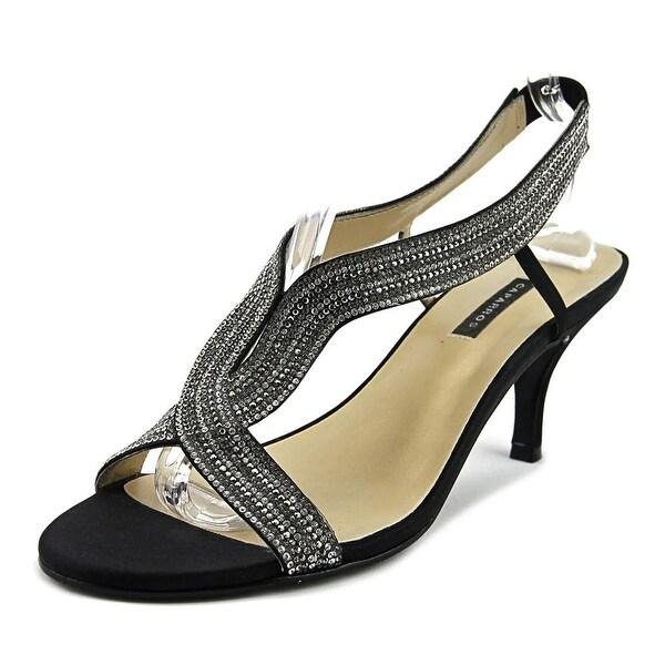 Caparros Zorro Women Open Toe Canvas Black Sandals