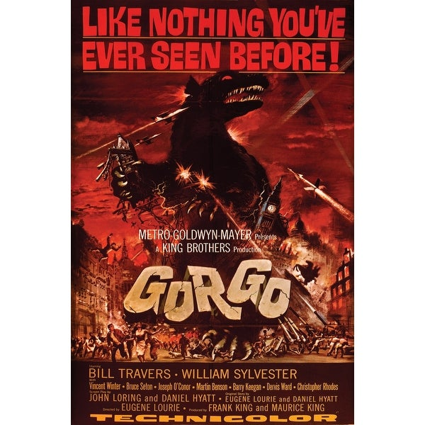 "Spooky Scenes Movie Poster Wall Sticker Gorgo 24"" X 36"""