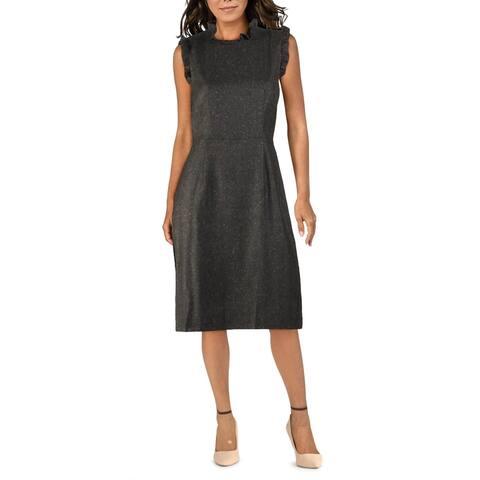 Rebecca Taylor Womens Wear to Work Dress Wool Blend Office Wear - Grey