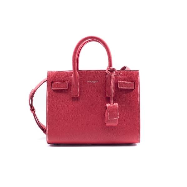 549e95e1ec Shop Saint Laurent Classic Nano Sac De Jour Bag Red Grained Leather ...