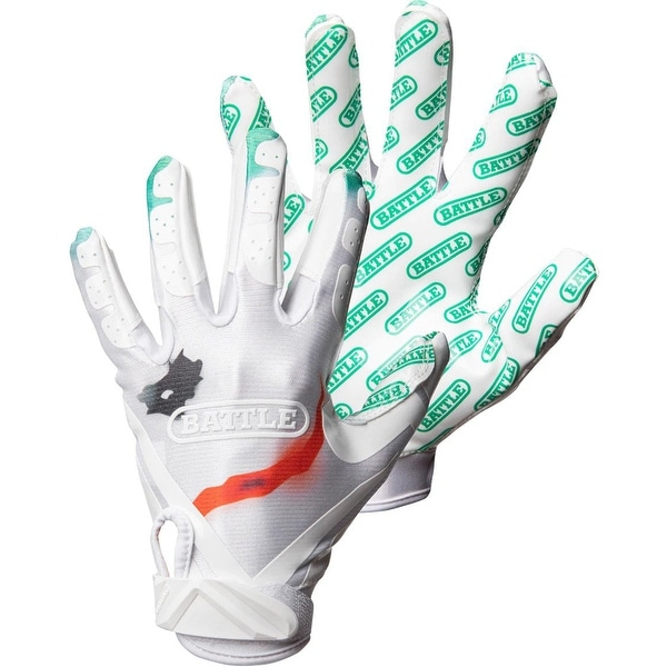Battle Sports Science UTR Straight Baller Adult Receiver Gloves Black//Green