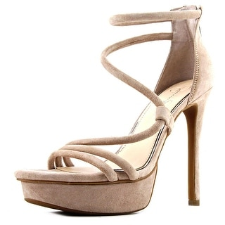 Jessica Simpson Caela Open Toe Leather Platform Heel