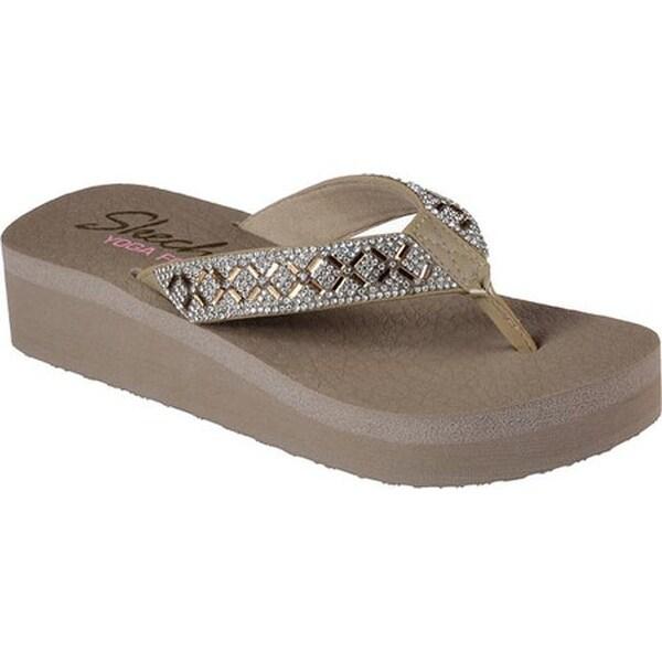 b956e0485e14 Shop Skechers Women s Vinyasa Flip-Flop Taupe - On Sale - Free ...