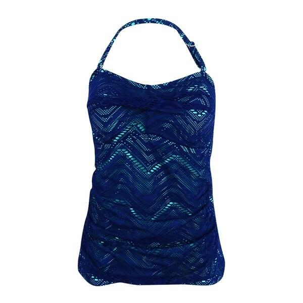 4c04dbbc04819 Shop Island Escape Women's Calypso Crochet Twist Strapless Tankini Top -  Navy - 10 - Free Shipping On Orders Over $45 - Overstock - 21385232