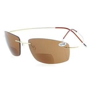 Eyekepper Titanium Rimless UV400 Lenses Bifocal Sun Readers Bifocal Sunglasses+1.5