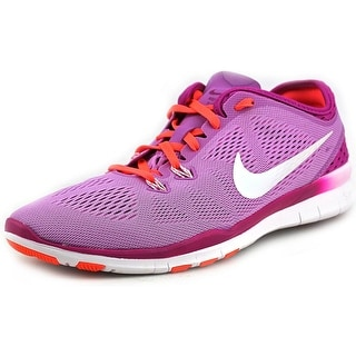 Nike Free 5.0 TR Fit 5 Brthe Women Round Toe Canvas Purple Running Shoe