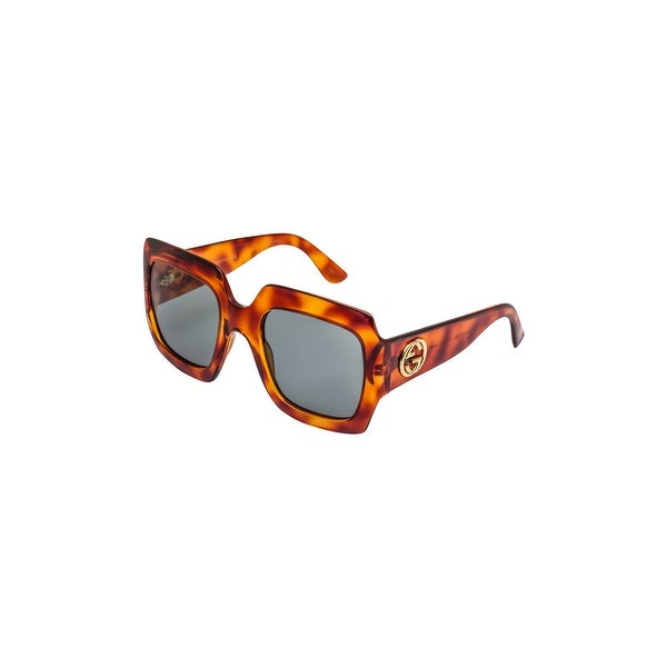 2e9cc9fbcde Shop Gucci Gg0053S 002 Avana-Avana With Green Lenses 54Mm Sunglasses -  havana-green - One size - Free Shipping Today - Overstock - 24266472