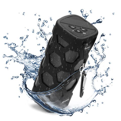 AGPtek Wireless Bluetooth Speaker w/ Power Waterproof and dustproof Loud Blue Tooth Speakers-Black - SIZE