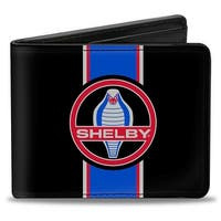 Shelby Cobra Center Stripe Black Gray Red Blue Bi Fold Wallet - One Size Fits most