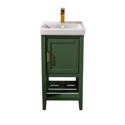 "Legion Furniture 18"" Pewter Green Sink Vanity WLF9018-VG"